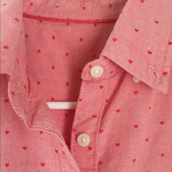 Old Navy Tops Tiny Hearts Or Valentines Day Buttonup Shirt Poshmark